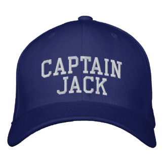 Captain Jack Embroidered Baseball Caps