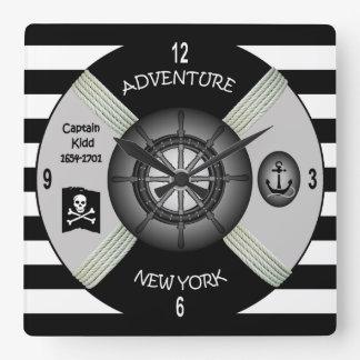 Captain Kidd~  Adventure Galley ~Privateer~Pirate Wallclock