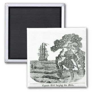Captain Kidd Burying His Bible, illustration Magnet
