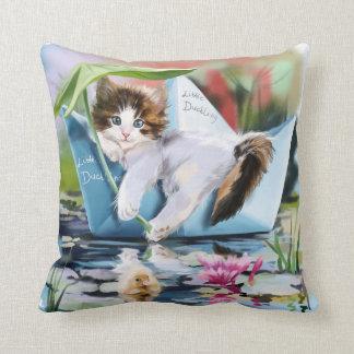 Captain Kitten Throw Pillow