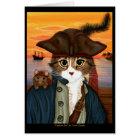 Captain Leo, Pirate Cat & Rat Fantasy Art Card