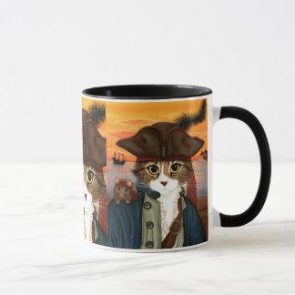 Captain Leo, Pirate Cat & Rat Fantasy Art Mug