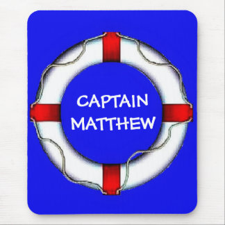 Captain Lifesaver Art Mouse Pad