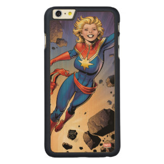 Captain Marvel Breaking Through Wall Carved® Maple iPhone 6 Plus Case