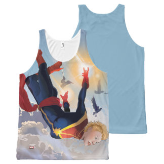 Captain Marvel Entering The Atmosphere All-Over Print Singlet
