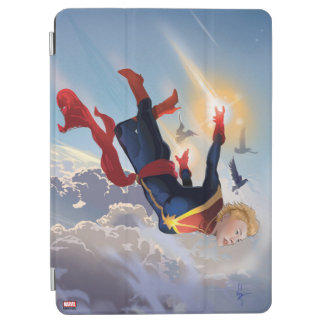 Captain Marvel Entering The Atmosphere iPad Air Cover