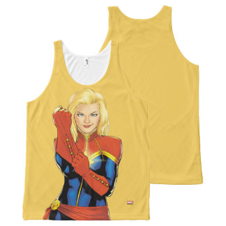 Captain Marvel Fitting Glove All-Over Print Singlet