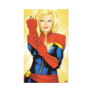 Captain Marvel Fitting Glove Canvas Print