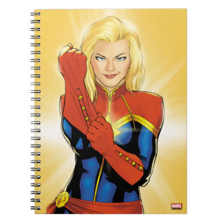 Captain Marvel Fitting Glove Notebook