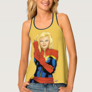 Captain Marvel Fitting Glove Tank Top