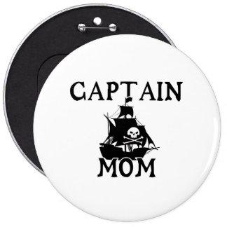 Captain Mom Lg. Round Button