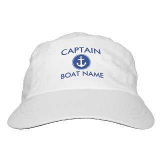 Captain Nautical Anchor Your Boat Name Hat