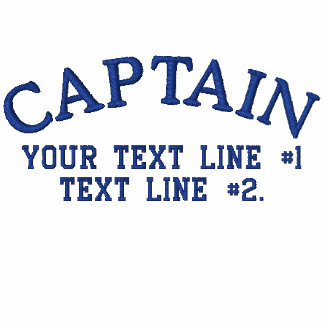 Captain Nautical Star Anchor Your Text Initials Embroidered Polo Shirts