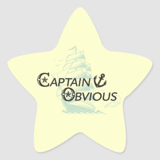 Captain Obvious Star Sticker