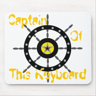 Captain of This Keyboard Mouse Pad