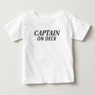 Captain on Deck Print Baby T-Shirt
