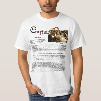 Captain Penne Tee Shirt Book chap. one