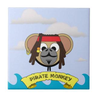 Captain Pirate Monkey Jack Jungle Cartoon Animal Ceramic Tile
