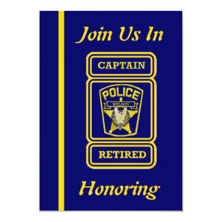 Captain Police Retirement Invitation
