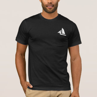 Captain Sailor Name Template Mens Black T-Shirt