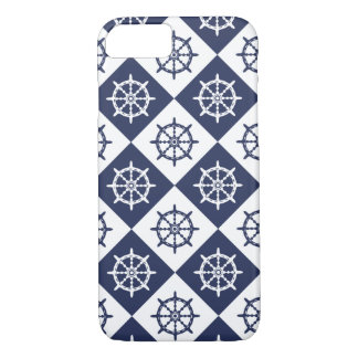 Captain Sailor Ship Steering Wheel Pattern iPhone 8/7 Case