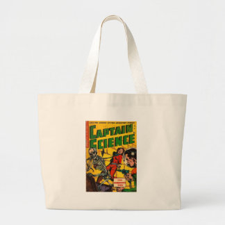 Captain Science Large Tote Bag