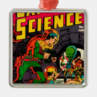 Captain Science -- Vampires: Truth or Fiction? Metal Ornament