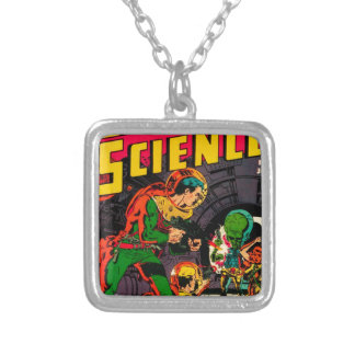 Captain Science -- Vampires: Truth or Fiction? Silver Plated Necklace