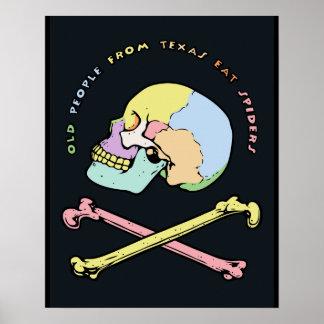Captain Skull Mnemonic Poster