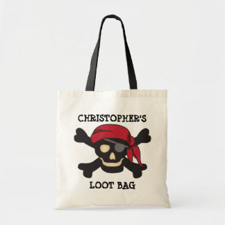 Captain Skull Pirate Loot Trick or Treat Bag