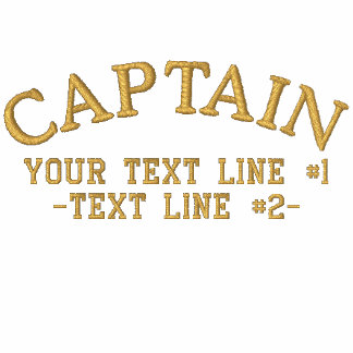 Captain Stripes Golden Star Personalize Your Text Embroidered Shirt