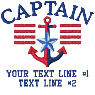 Captain Stripes Star Personalized Your Text Polo Shirts