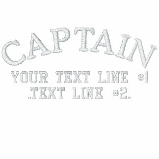 Captain Stripes Star to Personalize with Your Text Embroidered Shirts