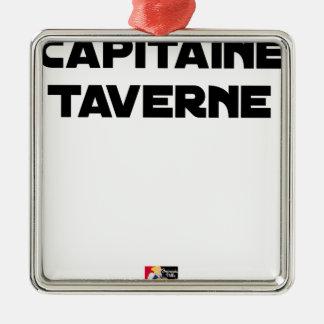 CAPTAIN TAVERN - Word games - François City Metal Ornament