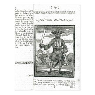 Captain Teach, Alias Black Beard Postcard