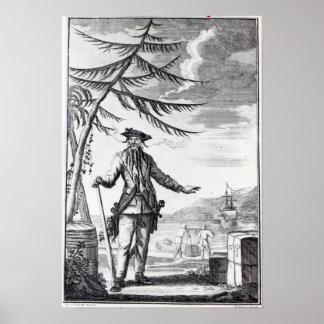 Captain Teach, commonly called Blackbeard Poster