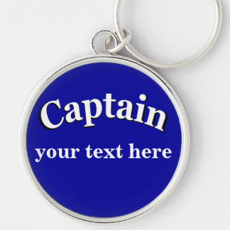 Captain to Personalize Key Ring