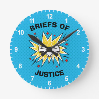 Captain Underpants   Briefs of Justice Round Clock