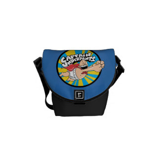 Captain Underpants | Flying Hero Badge Courier Bags