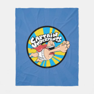 Captain Underpants | Flying Hero Badge Fleece Blanket