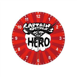 Captain Underpants   My Hero Round Clock