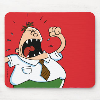Captain Underpants | Principal Krupp Yelling Mouse Pad