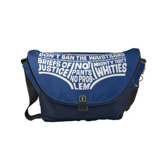 Captain Underpants | Typography Tighty Whities Commuter Bag
