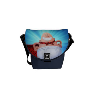 Captain Underpants | Waistband Warrior On Roof Courier Bag