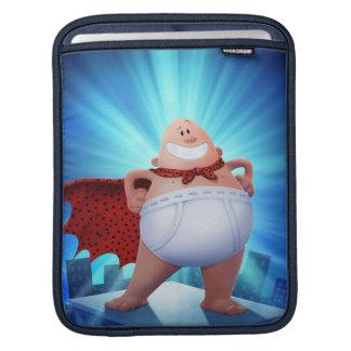 Captain Underpants   Waistband Warrior On Roof iPad Sleeve