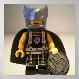 Captain Vortex Black & Silver Costume & Cape Poster