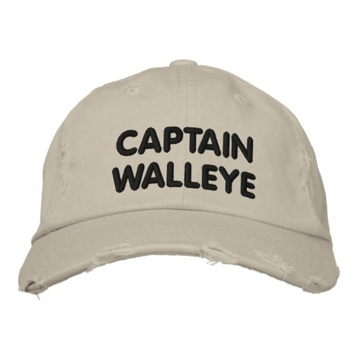 Captain Walleye - Walleye Fishing Embroidered Cap