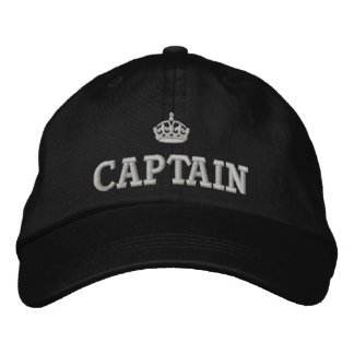Captain with  crown logo embroidered hat