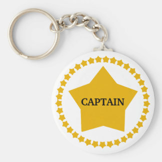 Captain's Gold Star Key Ring