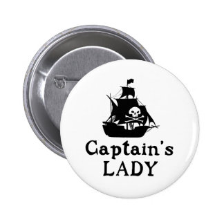 Captain's Lady 6 Cm Round Badge
